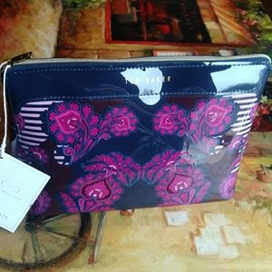 Ted Baker travel wash bag pouch navy multi